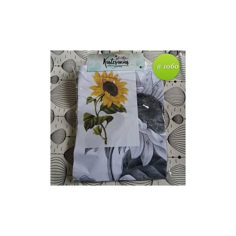 Girasol y hojas 50x30cm - Kartesanias