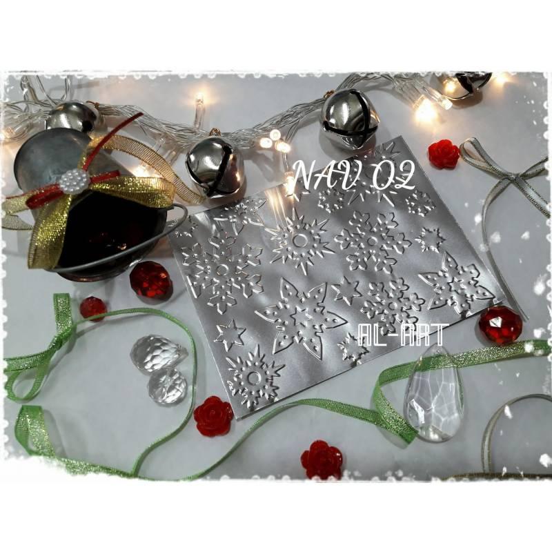 Chapitas repujadas Navidad - 10x15cm - Al-Art