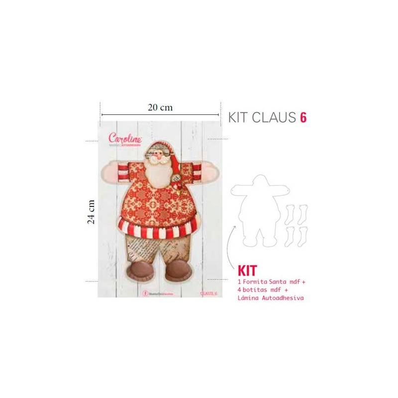 Kit Mini Santa Claus con Laminas Autoadhesivas - Caroline