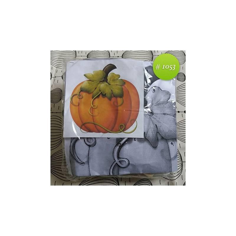 Zapallos con hojas 35x35cm - Kartesanias