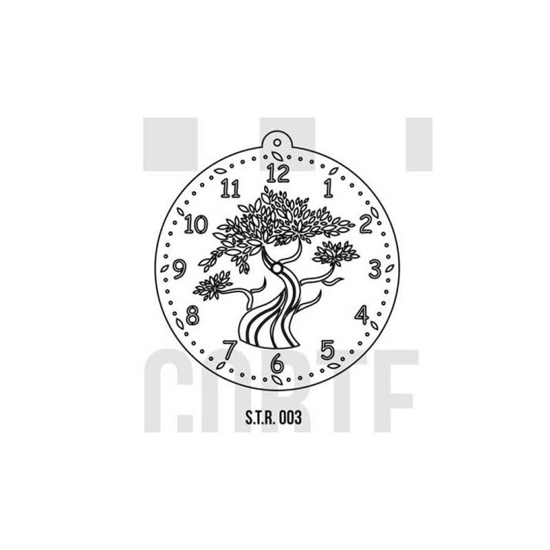 Stencils Relojes Decorados 30cm - HyN