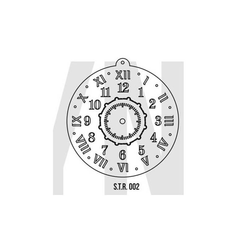 Stencils Relojes Decorados 40cm - HyN