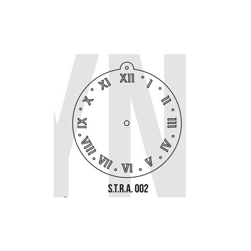 Stencils Relojes Simples 20cm - HyN