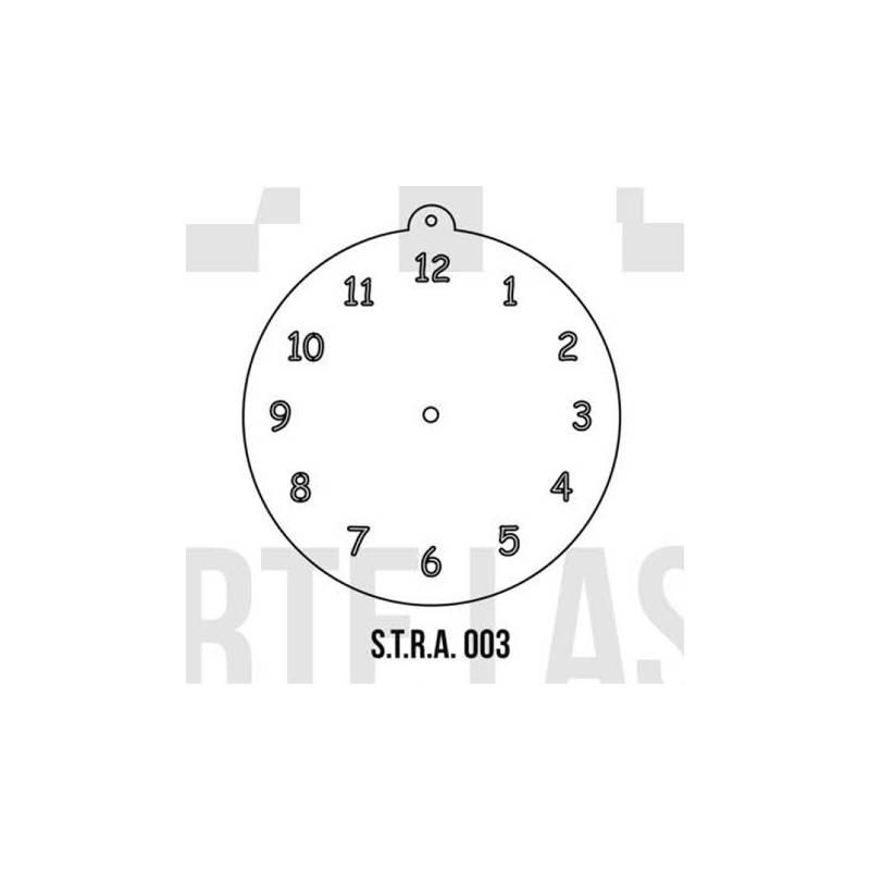 Stencils Relojes Simples 30cm - HyN