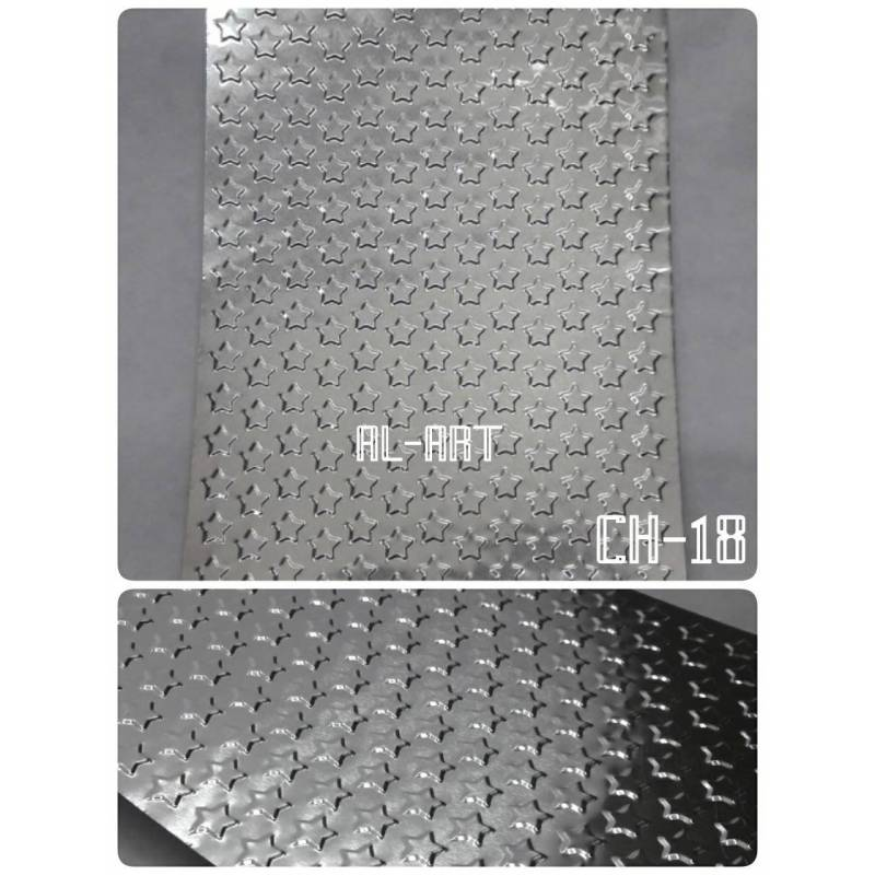 Chapitas repujadas de aluminio - 10x15cm - Al-Art