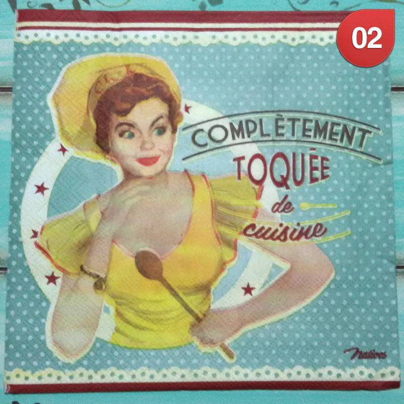 Servilletas Decoupage Retro