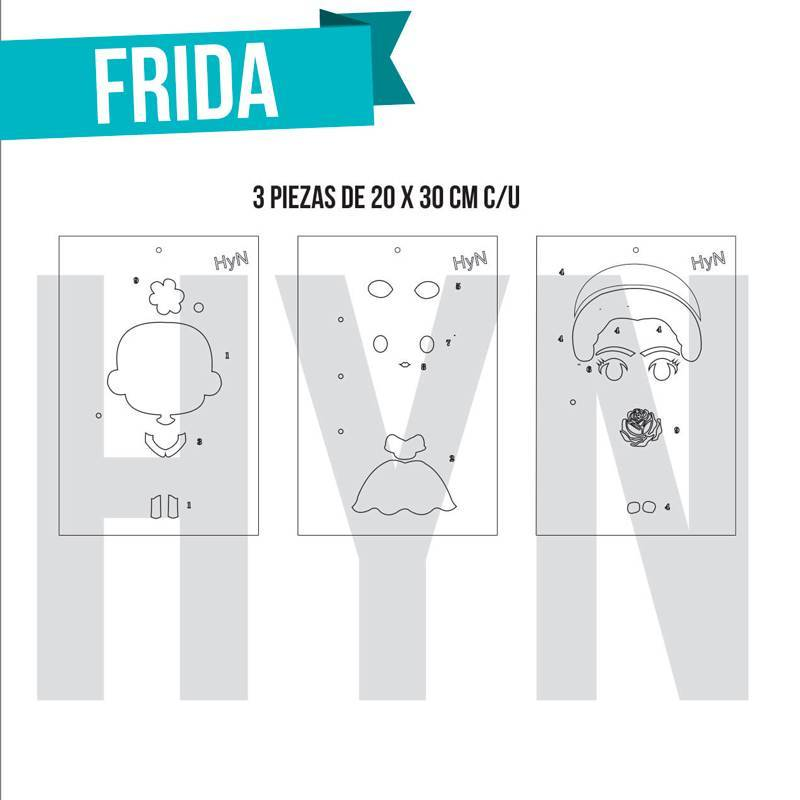 Stencil Frida (3 piezas) - HyN