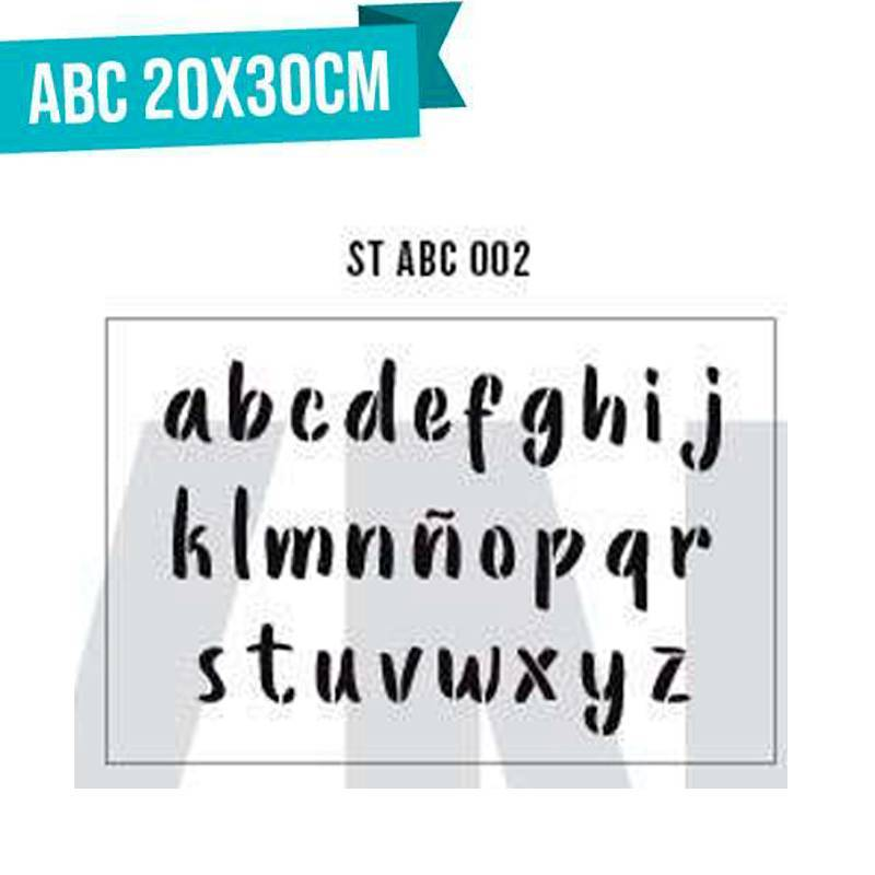 Stencils Abecedario 20x30cm...