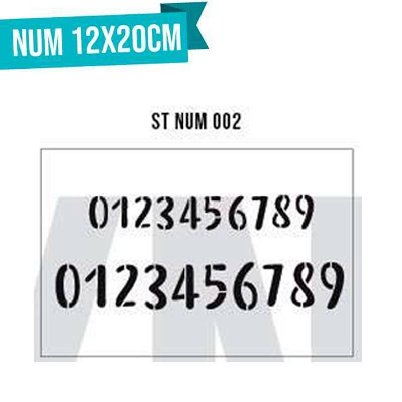 Stencils Numeros 12x20cm - HyN