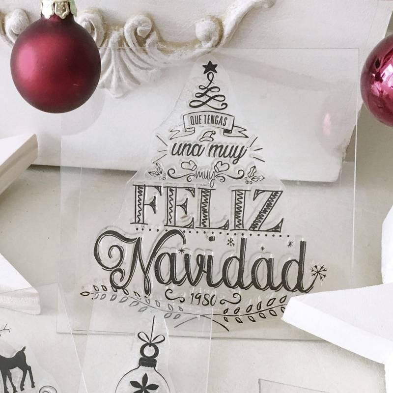 Sello Navidad Arbol Grande...