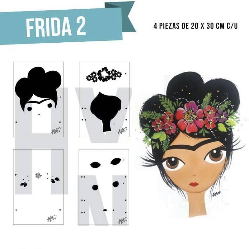 Stencil Frida (4 piezas) - HyN