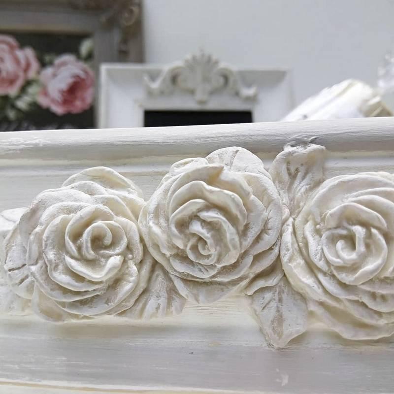 Molde Rosa Shabby - Craquelina