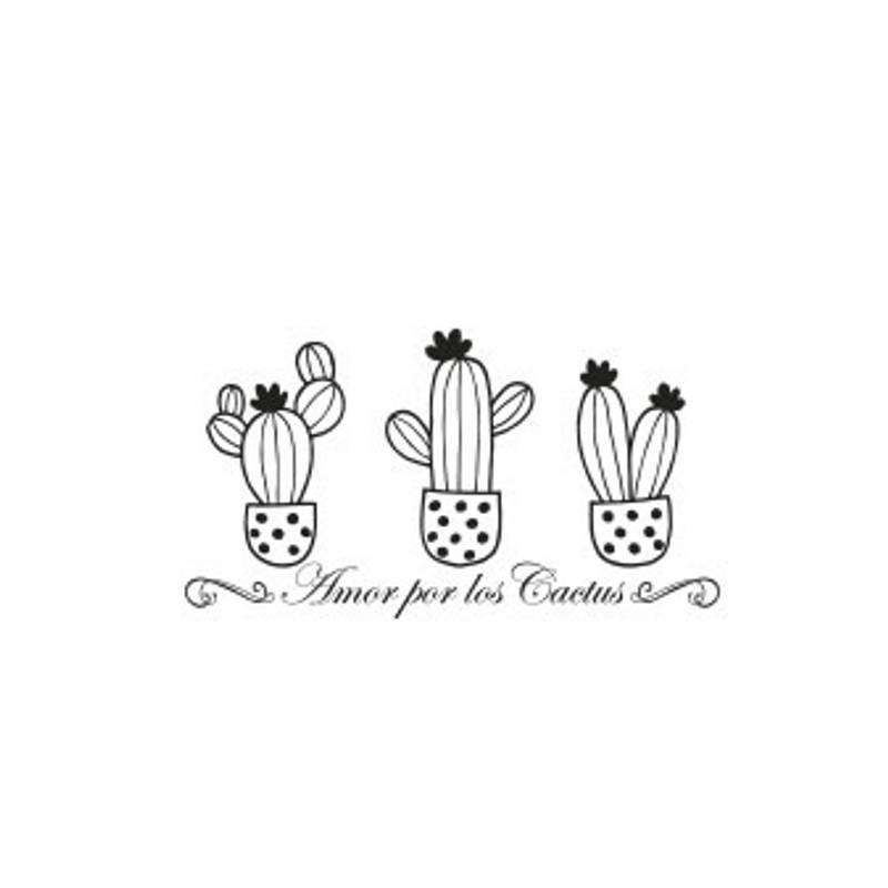 Sello Amor por los cactus -...