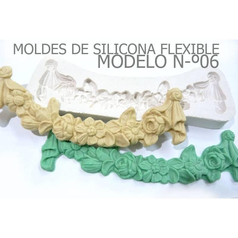 Molde Feston de Flores - Craquelina