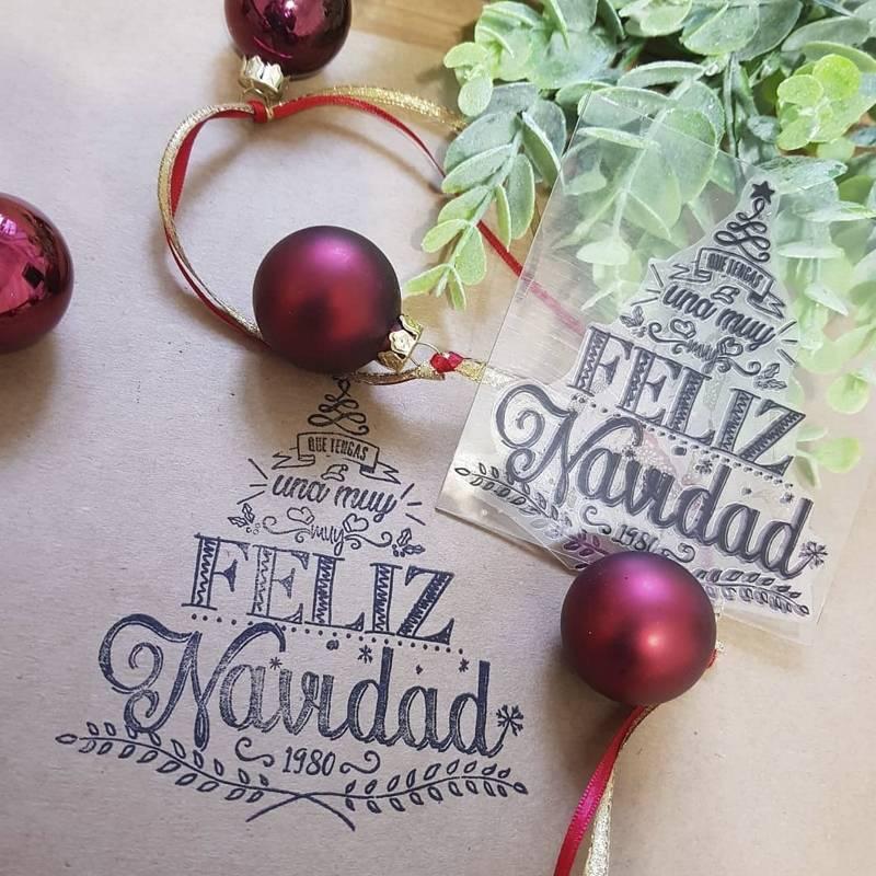 Sello Navidad Arbol Mediano...