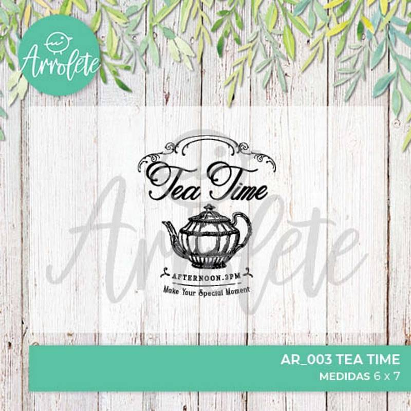 Sello Tea Time (AR_003) -...