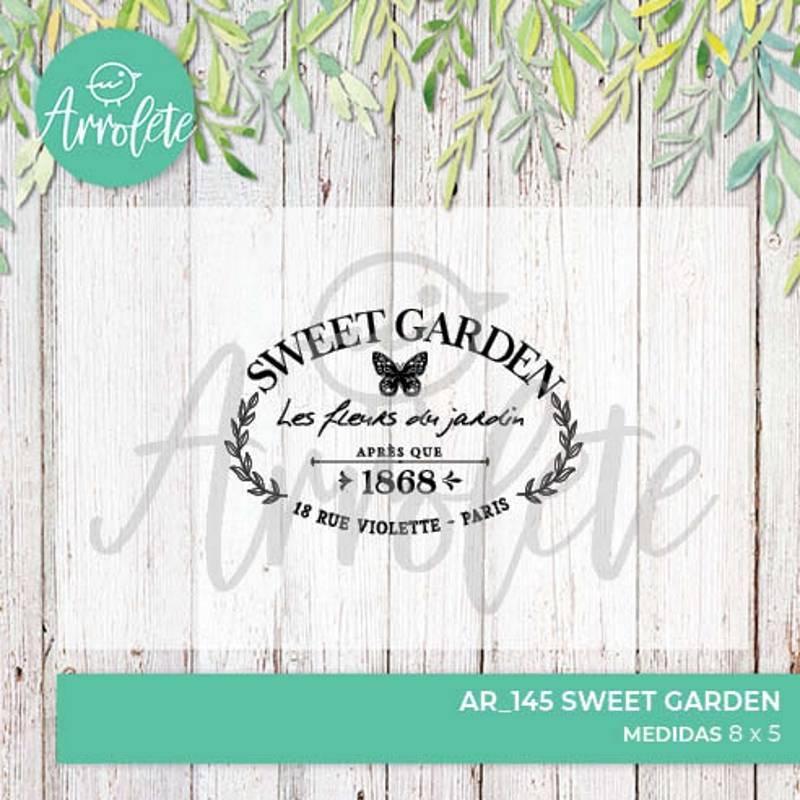 Sello Sweet Garden (AR_145)...